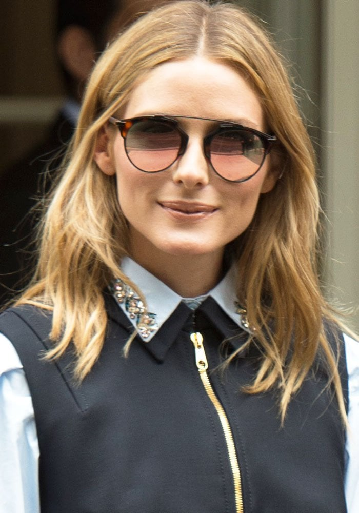 Olivia Palermo at the Christian Dior show during the Paris Fashion Week Haute Couture Autumn/Winter 2016/17 in Paris, France on July 4, 2016