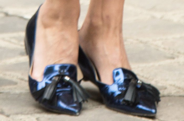 Olivia Palermo wears Jimmy Choo Gabby flats to the Christian Dior show