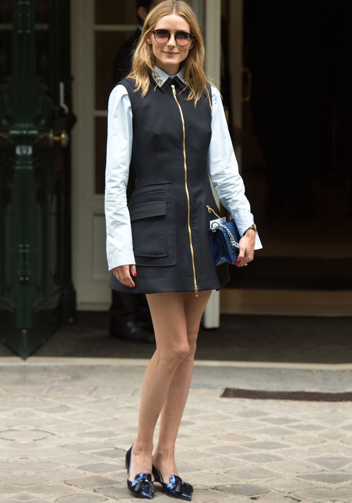 Olivia Palermo shows off her personal style outside Christian Dior