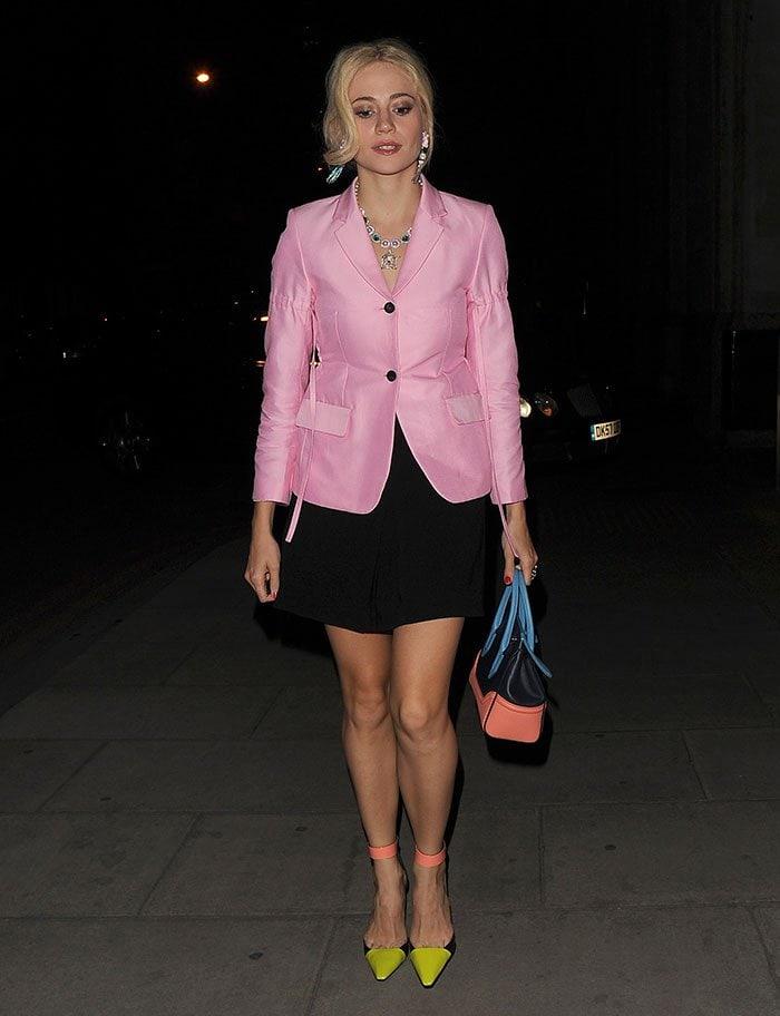Pixie-Lott-Haymarket-Hotel-pink-blazer