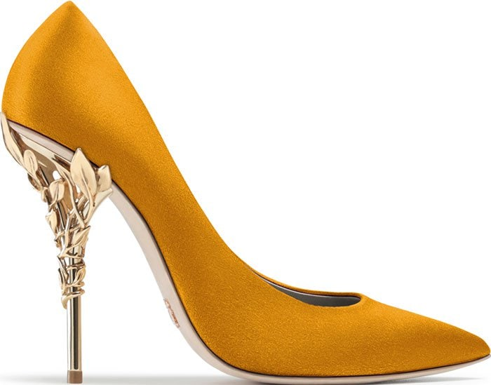 Ralph & Russo Eden pumps mustard suede