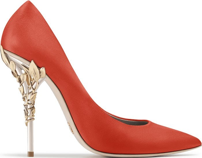 Ralph & Russo Eden pumps coral leather