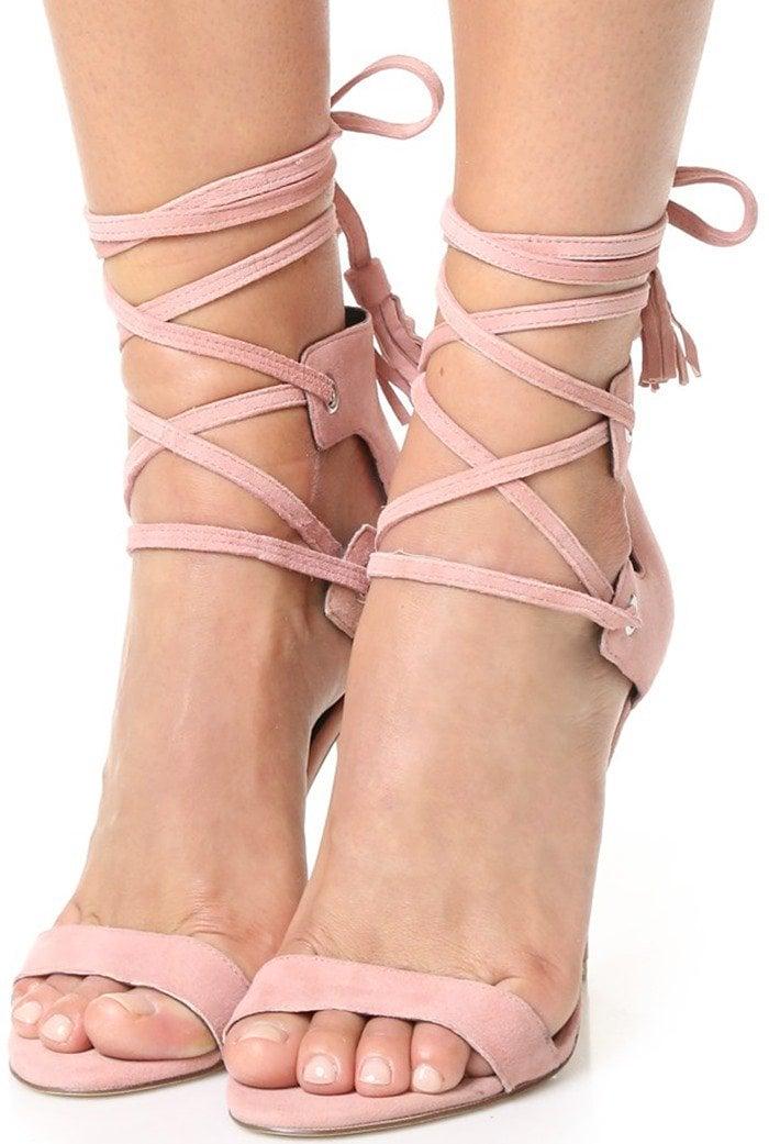 Rebecca Minkoff Riley Lace Up Sandal in Guava