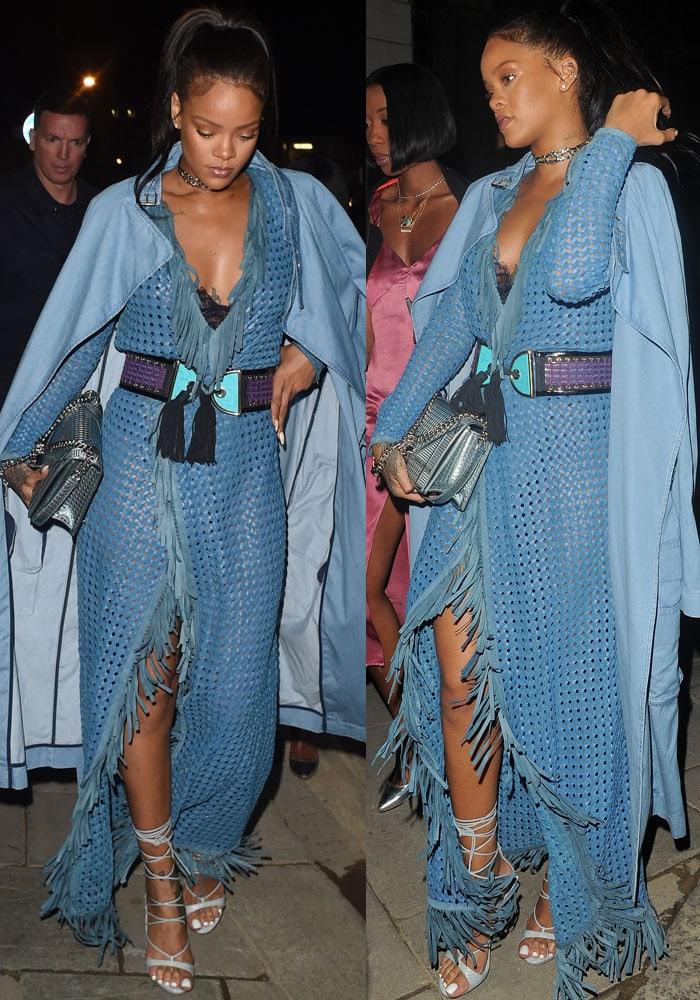 Balmain army: Rihanna parties in a three-piece Balmain outfit