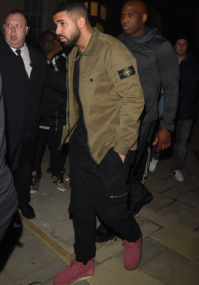 Drake was spotted leaving Tape Club just minutes after Rihanna made her exit