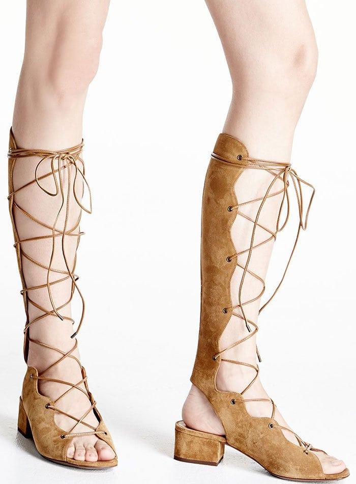 Saint-Laurent-Babies-Suede-Knee-High-Gladiator-Sandals-1