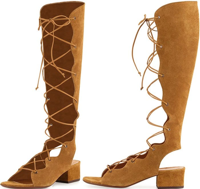 Saint-Laurent-Babies-Suede-Knee-High-Gladiator-Sandals