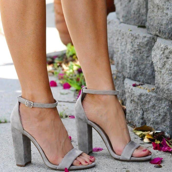 27647c7b250 Carrson Block Heel Sandals by Steve Madden With Ankle Strap