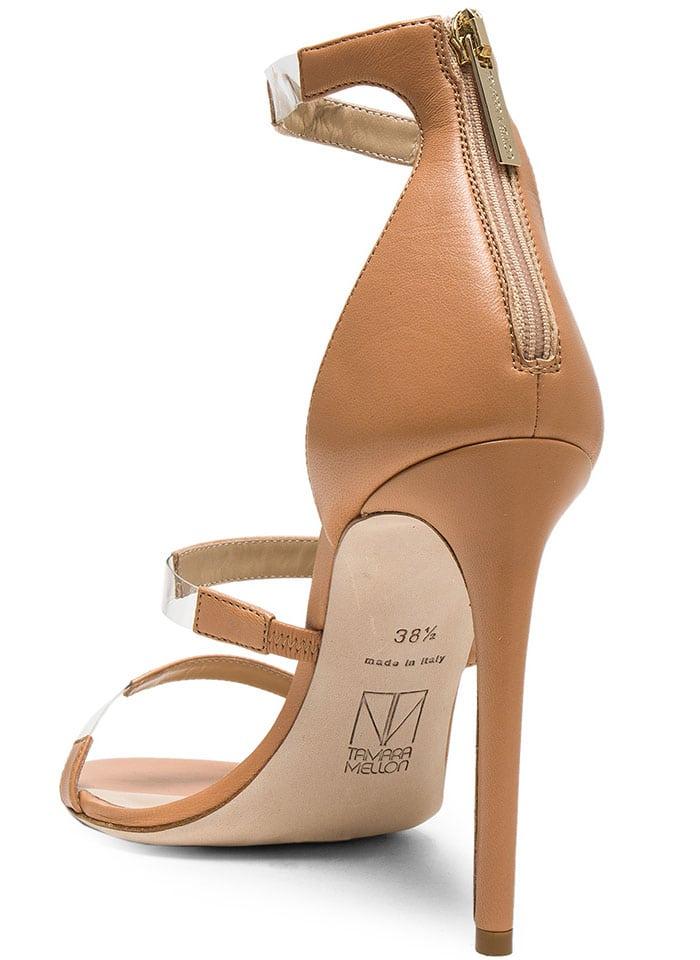 Tamare Mellon Nude Leather Frontline Heels