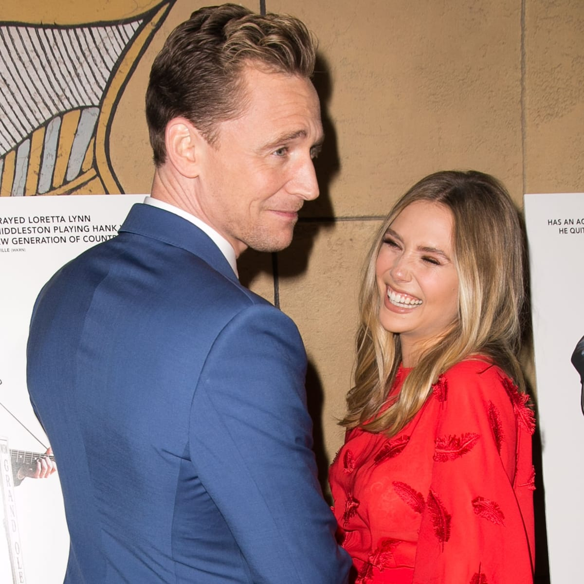 Elizabeth Olsen claims not to have dated Tom Hiddleston and that they're just friends