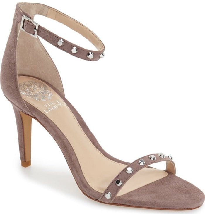 """Vince Camuto """"Cassandy"""" Studded Sandals in Mystery Muave Suede"""