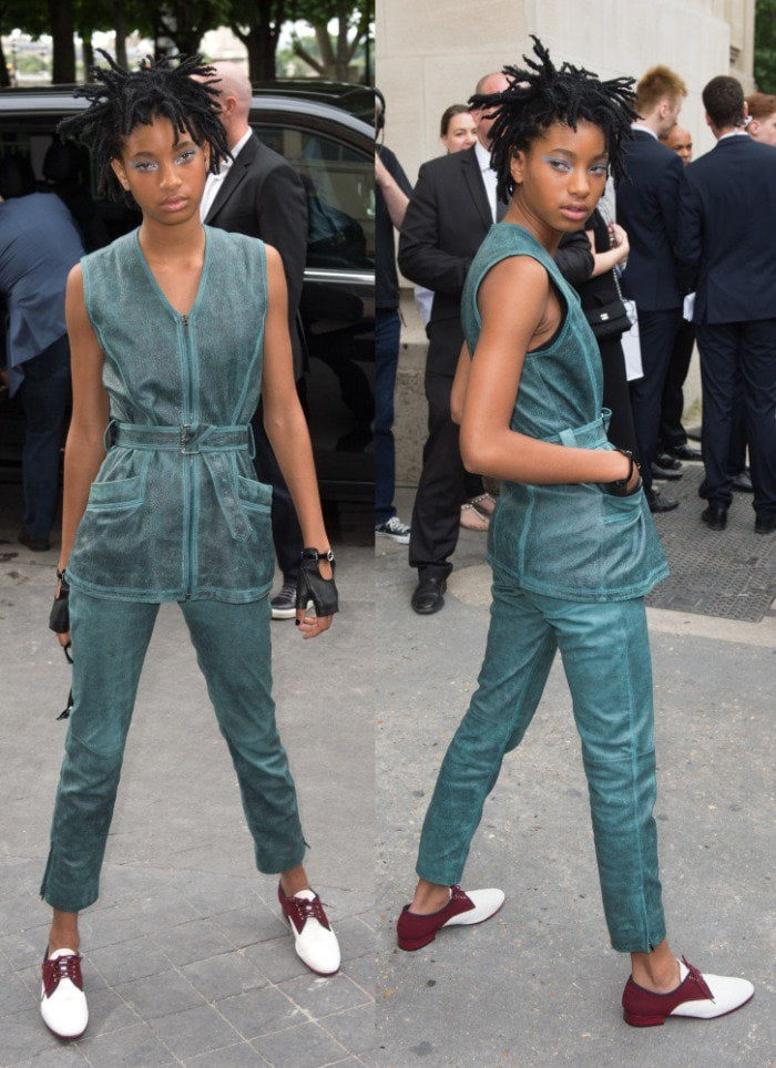 Willow smith chanel couture fashion show 2016 2