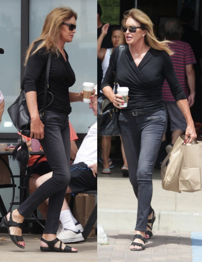 caitlyn jenner out in malibu