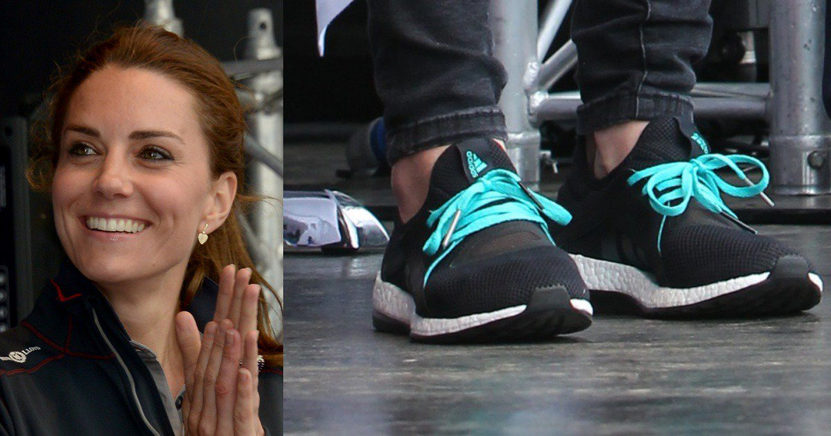 9d76cb7a1e7 Kate Middleton Changes from Wedges to Adidas Sneakers