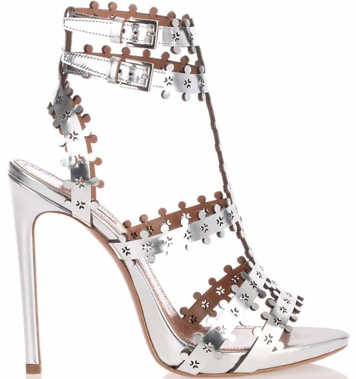 Alaia Metallic Leather Sandal 2