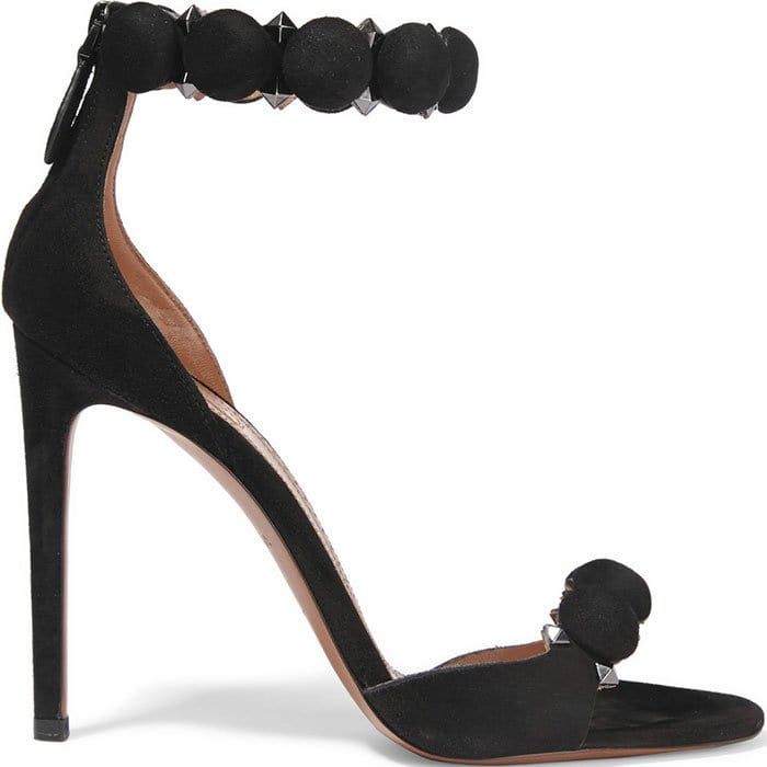 Alaia-Studded-black-suede-sandals