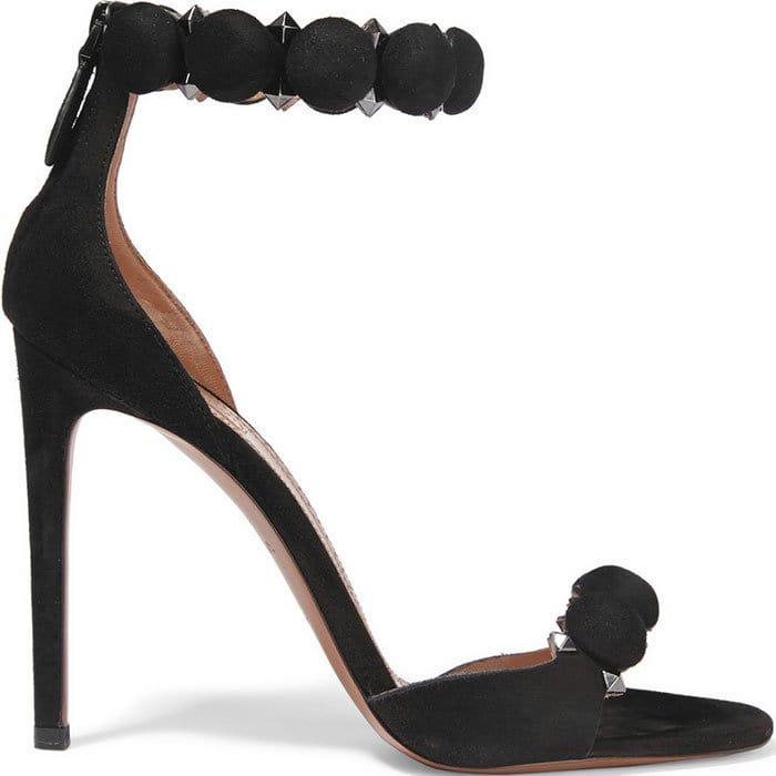 Alaia-Studded-black-suede-sandals