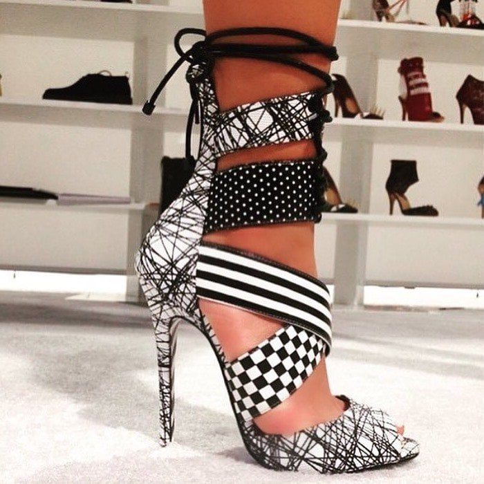 Alejandra G Santiago Mix Print Stiletto Heels