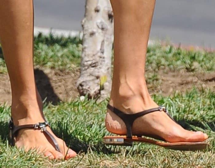 Alessandra Ambrosio'sembellished thong sandals