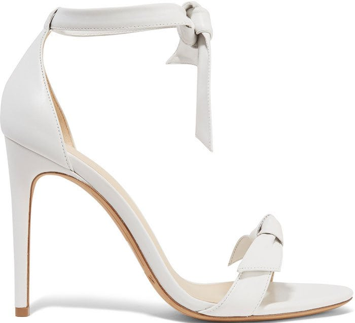 "White Leather Alexandre Birman ""Clarita"" Sandals"
