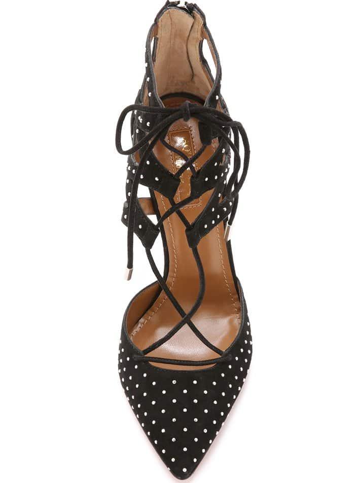 Aquazzura Belgravia Studded Heels 2