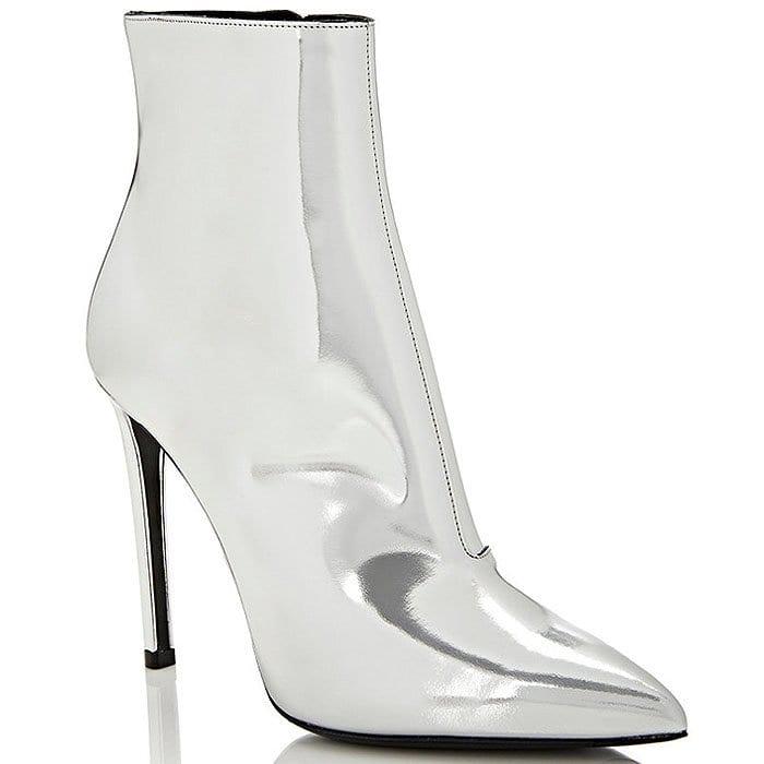 Balenciaga All Time silver booties