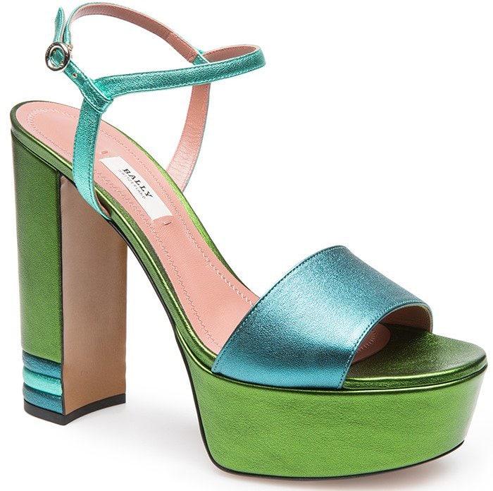 Bally Clarine Platform Sandal in Multicolor