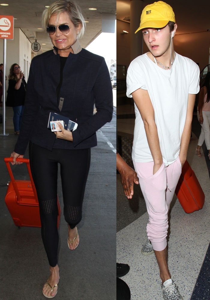 Bella Hadid LAX Mom Brother Balenciaga 4