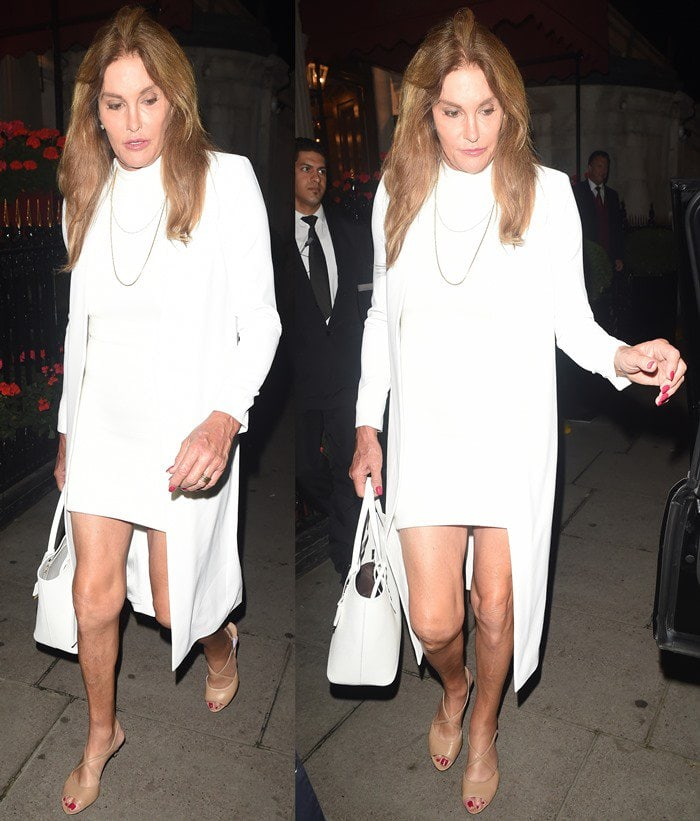 Caitlyn Jenner out for dinner in London.
