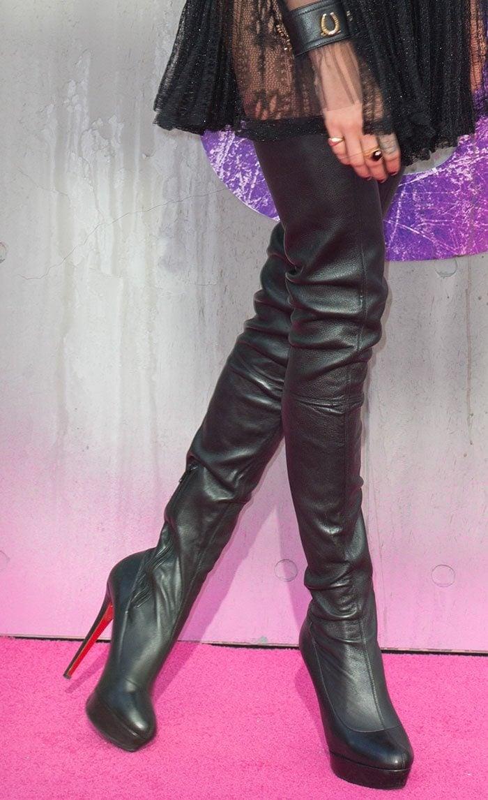 9d1c3a5136e Cara Delevingne Stylish in Christian Louboutin  Gazolina  Boots