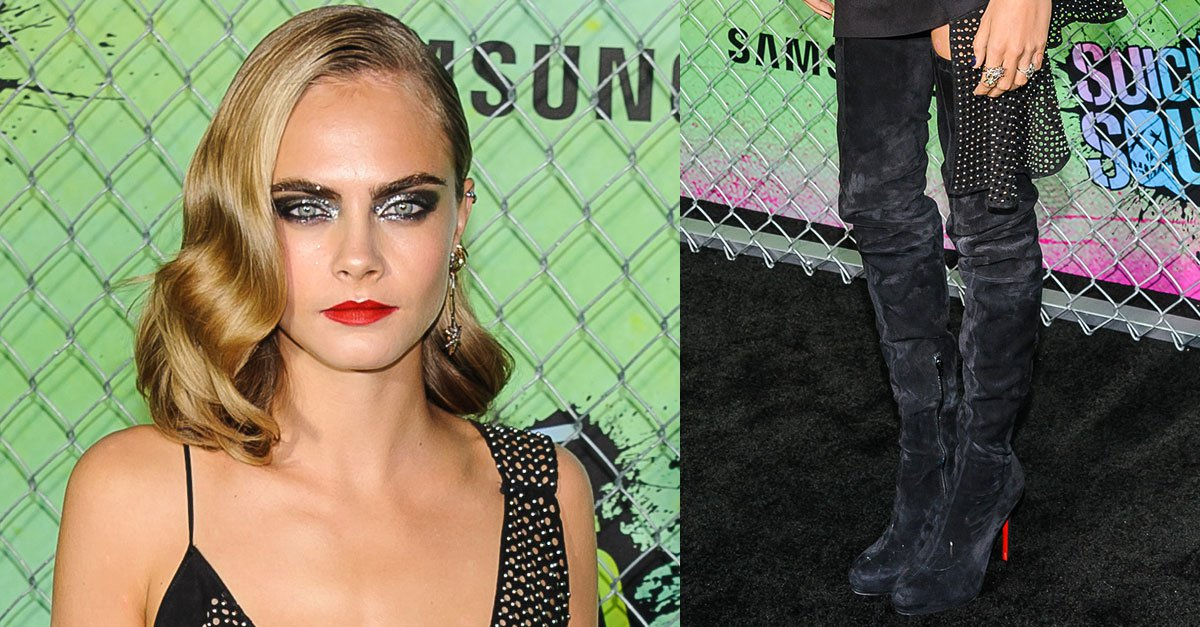 info for 6b9a5 0dab0 Cara Delevingne Wears Christian Louboutin 'Louise XI' Boots