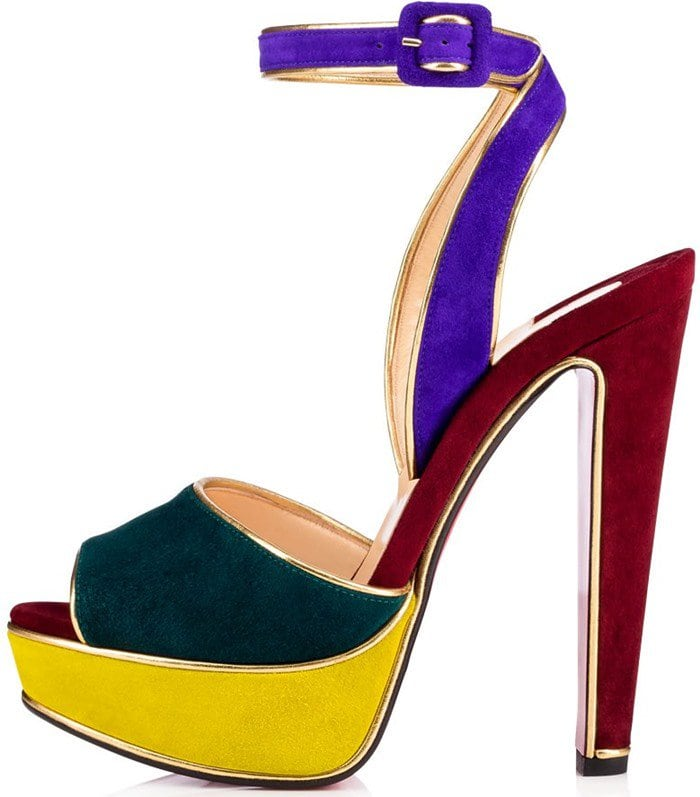 Christian Louboutin Louloudance sandals mix of seasonal suedes