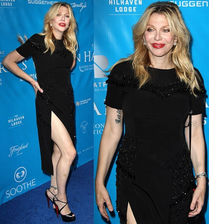 Courtney Love at the United Nations event honoring United Nations Secretary-General Ban Ki-moon held at a Private Residence in Los Angeles on August 10, 2016