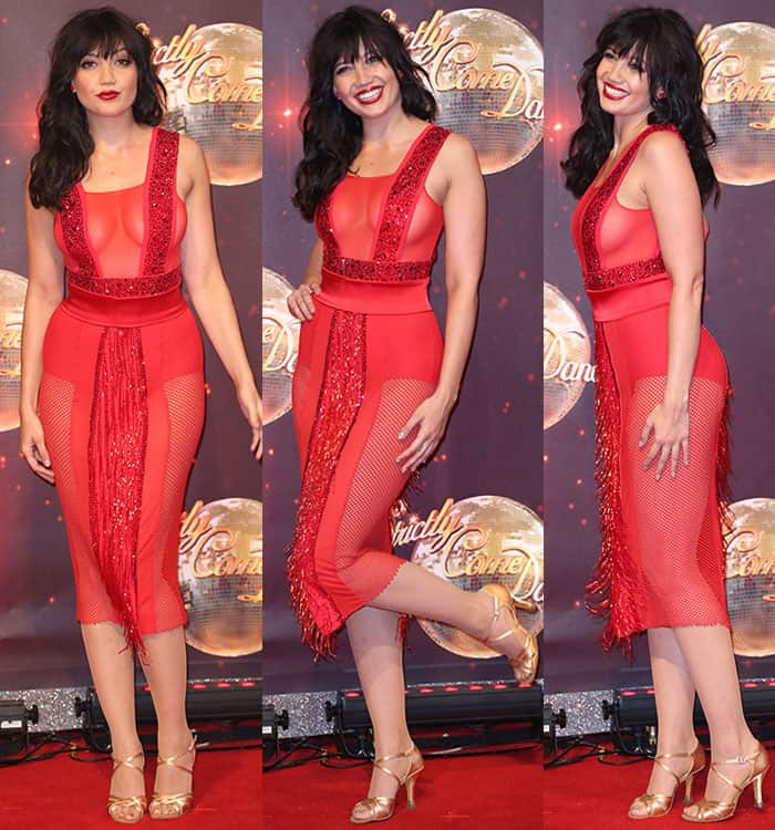 Daisy-Lowe-chest-red-see-through-dress