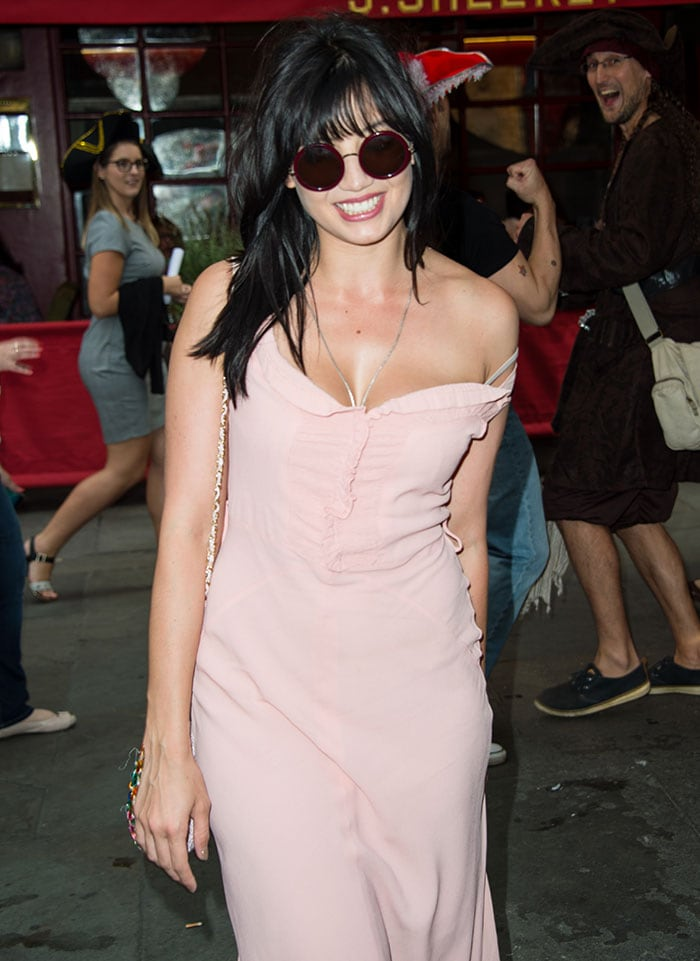 Daisy-Lowe-cleavage-pink-dress-Strictly-Come-Dancing