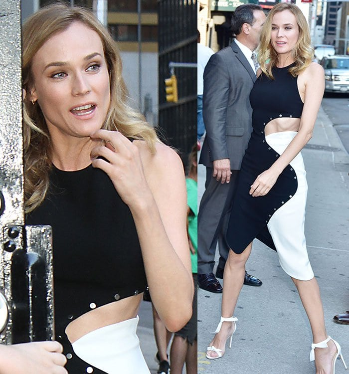 "Diane Kruger arriving at the Ed Sullivan Theater for ""The Late Show with Stephen Colbert"""