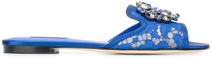 Dolce & Gabbana 'Bianca' sliders blue