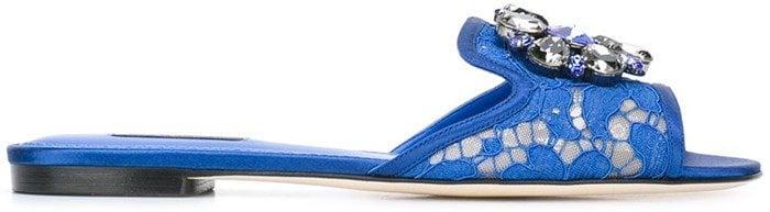 Dolce & Gabbana 'Bianca' sliders blue