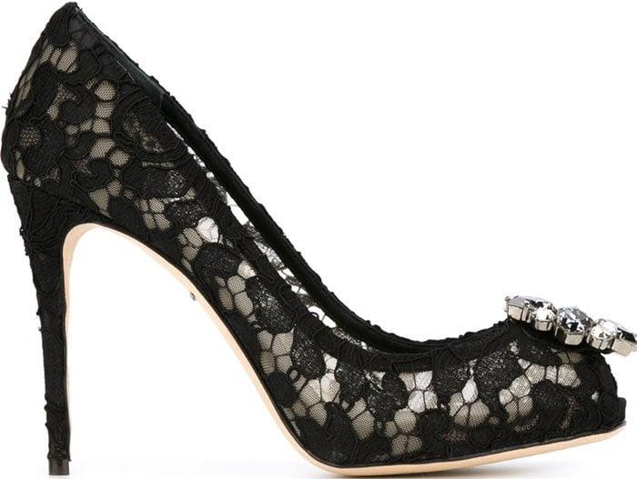 Dolce Gabbana Lace Pumps Black 2
