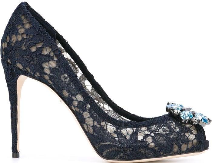 Dolce Gabbana Lace Pumps Blue 2