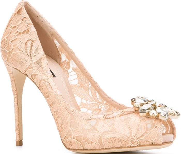 Dolce Gabbana Lace Pumps Nude 1