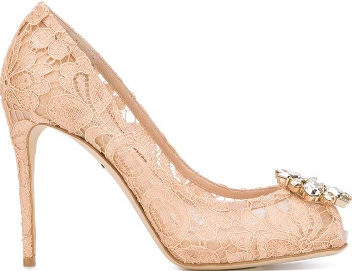 Dolce Gabbana Lace Pumps Nude 2