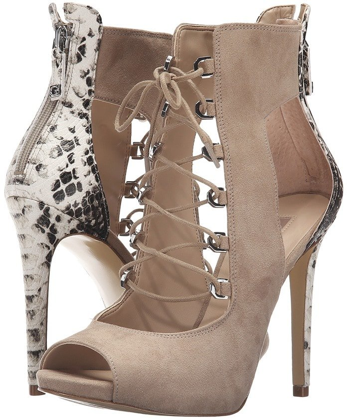 Faux-Suede GUESS 'Adelise' Lace-Up Heels
