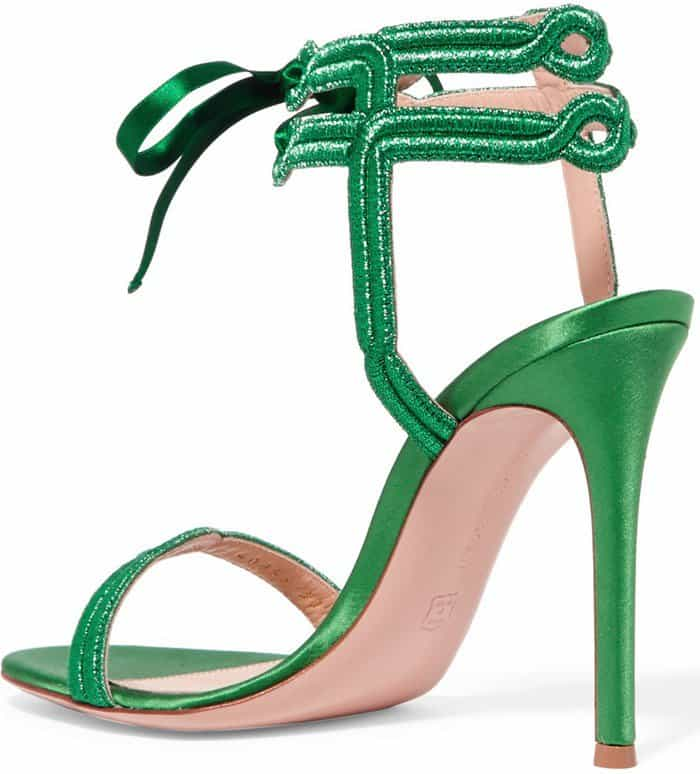 Gianvito Rossi satin and lame heels