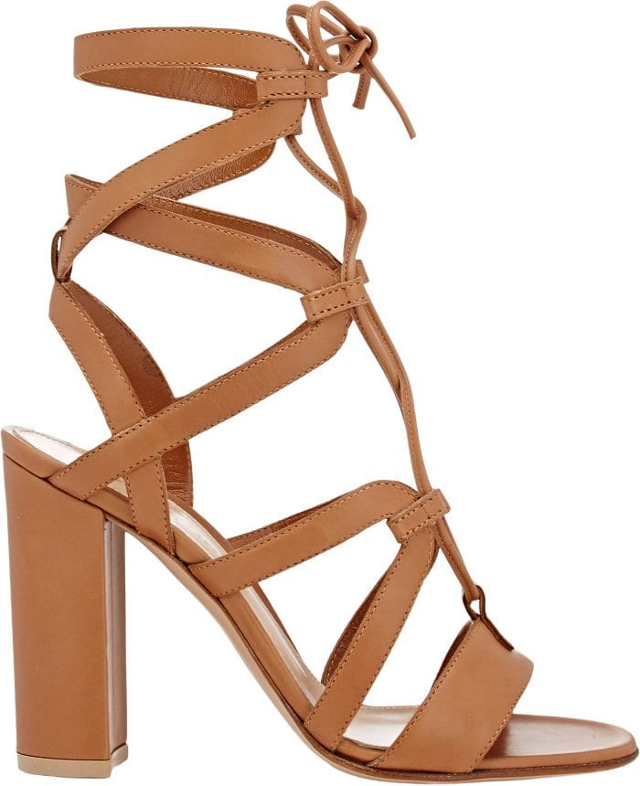 Gianvito Rossi Suede Lace Up Gladiator