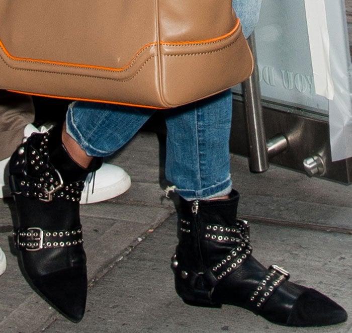 Gigi-Hadid-Isabel-Marant-eyelet-boots