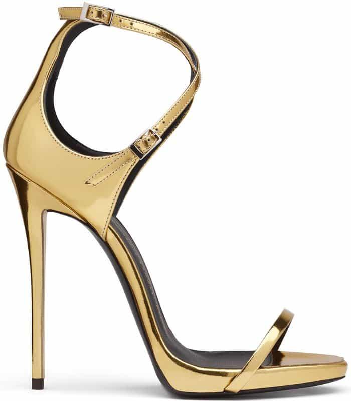 Giuseppe Zanotti Darcie Gold Sandals