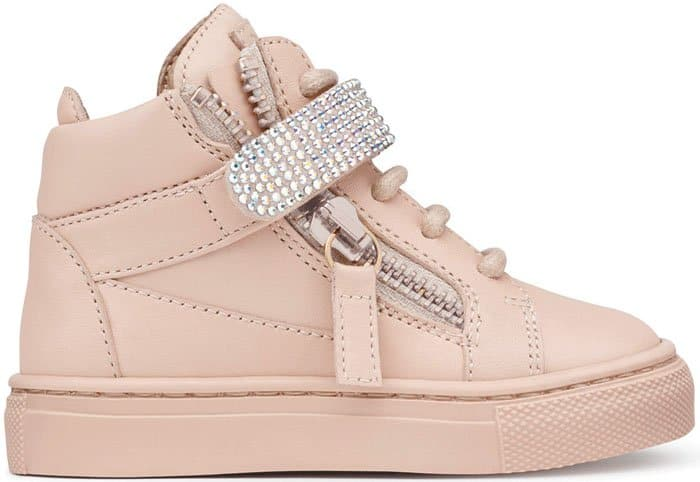 Giuseppe Zanotti Dolly Embellished Sneakers in Pink