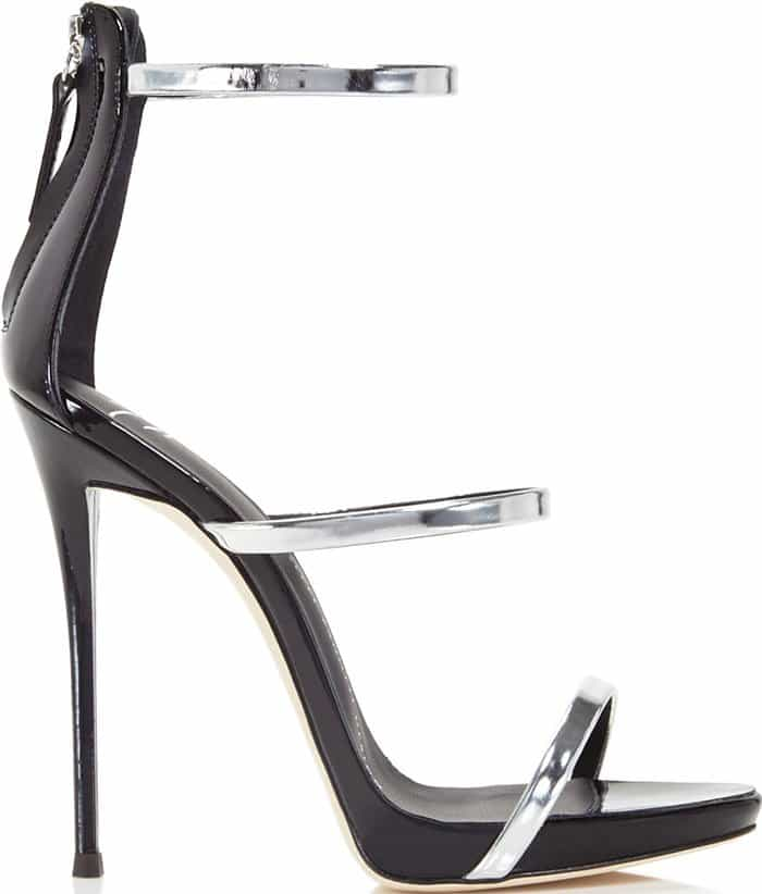 Giuseppe Zanotti Coline Metallic Three-Strap Sandals