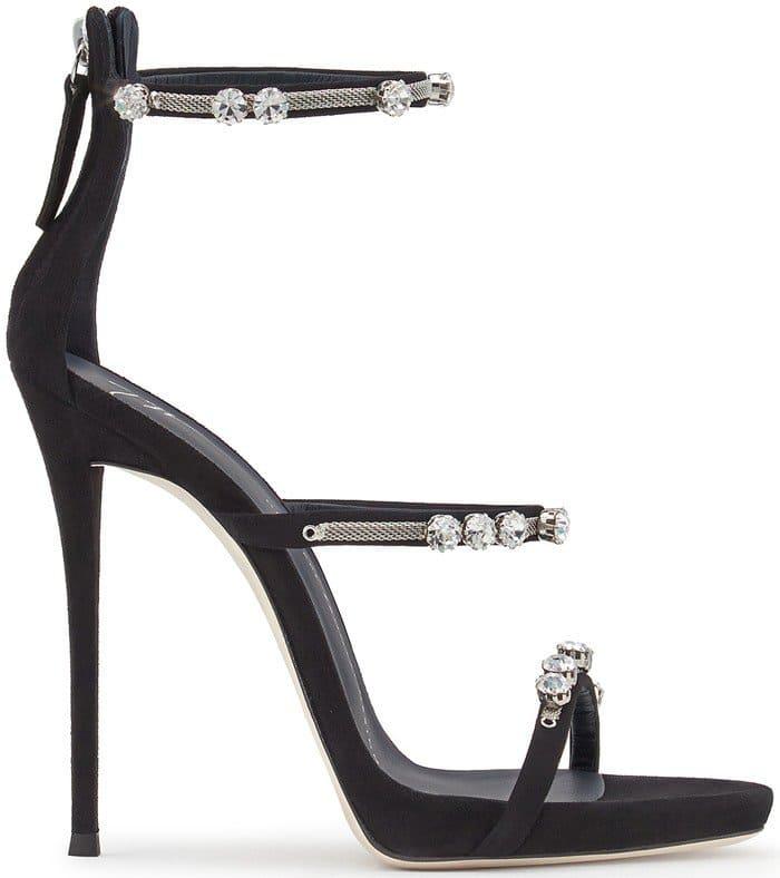 Giuseppe Zanotti Strappy Heels Black